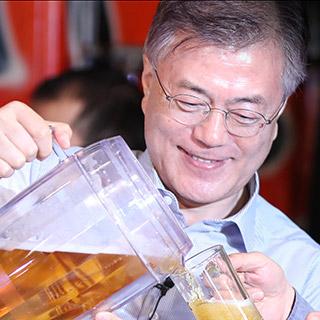 [포토무비] '文대통령과 기업인 대화'…'호프타임'으로 진행