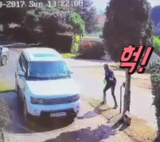 [현장영상] 총 든 강도 보자마자…용감한 부부의 '순발력'