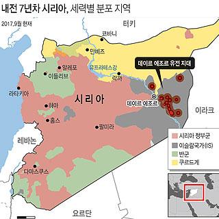 내전 7년차 시리아, 세력별 분포 지역