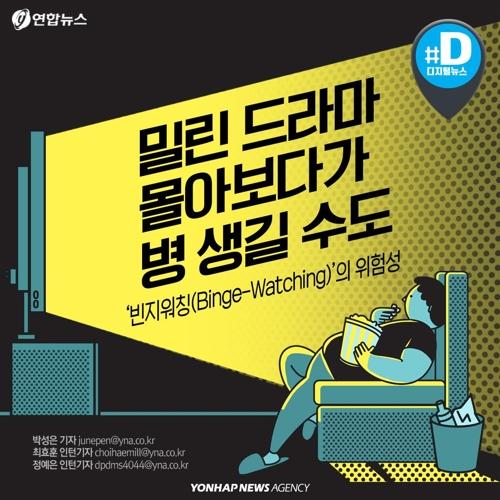 """[카드뉴스] """"밀린 드라마 몰아보다 병 생길 수도"""""""