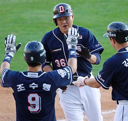 두산 오재일, '또 다시 역전 3점 홈런!'