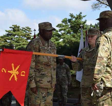 델타 포대의 제35방공포병여단 편입 기념식