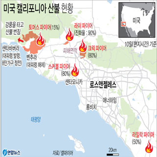 美 캘리포니아 산불 2주째 확산