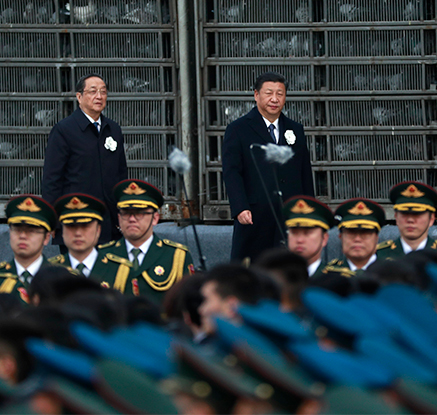 中 난징대학살 추모식 참석한 시진핑