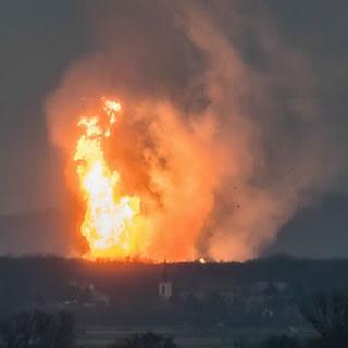 [현장영상] 오스트리아 천연가스 허브 폭발…가스공급 차단 伊 비상사태