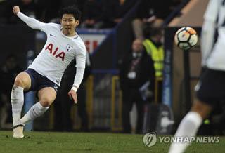 손흥민, 시즌 12호골 불발…토트넘, FA컵 로치데일과 무승부