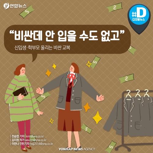 """[카드뉴스] """"고등학생 아이 교복 구입하는데 37만원이나 들어가네요"""""""