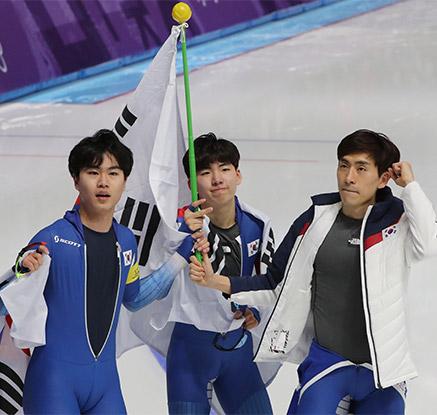 남자 팀추월, 값진 은메달