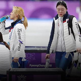 [포토무비] '이것이 팀워크다'…팀추월이 배워야할 쇼트트랙·컬링팀