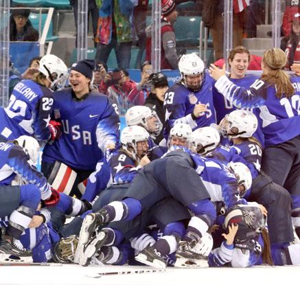 미국 여자하키 20년 만에 금메달, 캐나다 5연패 저지
