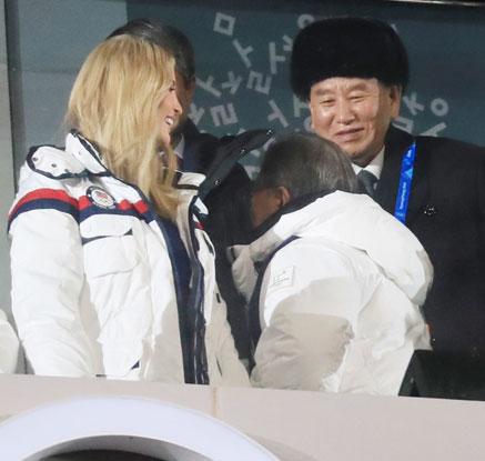 [올림픽] 폐회식 참석한 문재인 대통령과 이방카.김영철
