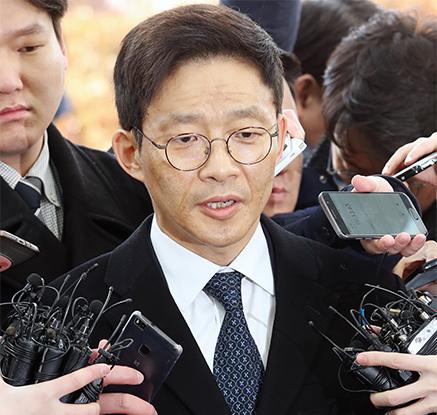 '성추행 의혹' 안태근 출석