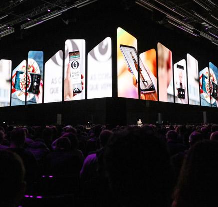 인산인해 이룬 갤럭시 S9 언팩 행사장