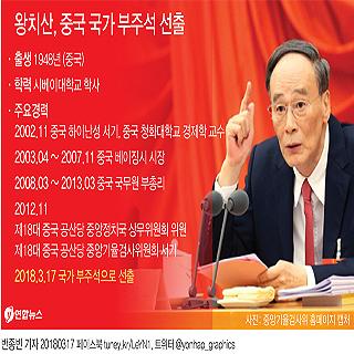 왕치산, 중국 국가 부주석 선출