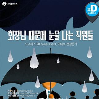 [카드뉴스] 회장님 일탈 '오너 리스크'에 눈물 나는 직원들