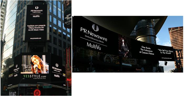 뉴욕 타임스퀘어 및 라스베가스 패션쇼 몰 사인보드