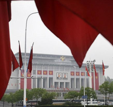 북한, 36년 만의 노동당 대회…봄비·황사에 '한산'
