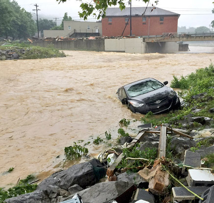 美 웨스트버지니아 '100년 만의 최악 홍수'