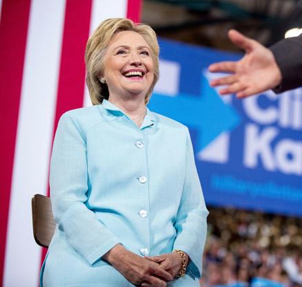 힐러리, 美민주 대선후보 선출···주요 정당 첫 여성후보 대기록
