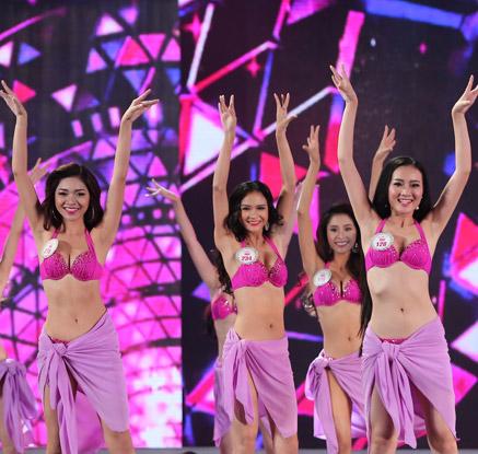 '비너스들의 수준급 춤 솜씨'…미스 베트남 선발대회
