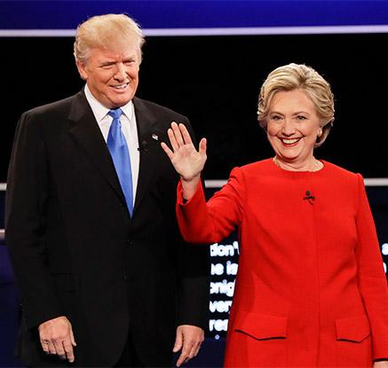 힐러리-트럼프, 美 대선 첫 TV토론서 대격돌