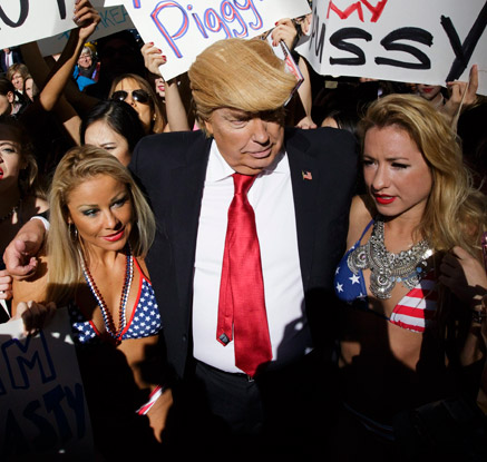 뉴욕에 나타난 트럼프 도플갱어?