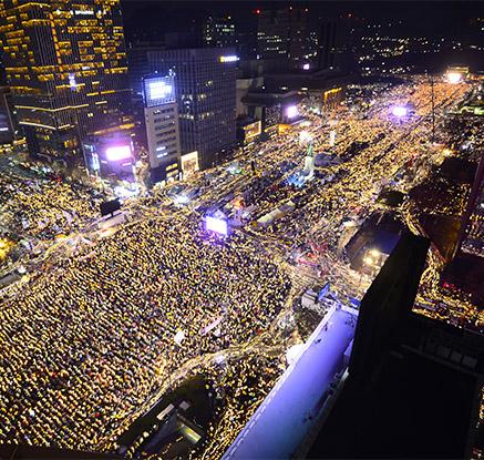박대통령 '3차 담화'에 성난 여론…6주째 전국서 주말 촛불