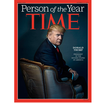 트럼프, 타임 올해의 인물…'분열된 미국의 대통령'