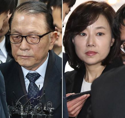 김기춘·조윤선 영장심사…질문엔 '묵묵부답'