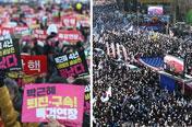탄핵심판 막바지 찬반집회 가열…촛불·태극기 '총집결'세대결