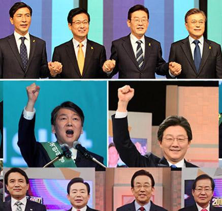 국민 安압승·바른 劉 4전전승·민주 광주경선·한국 토론 치열