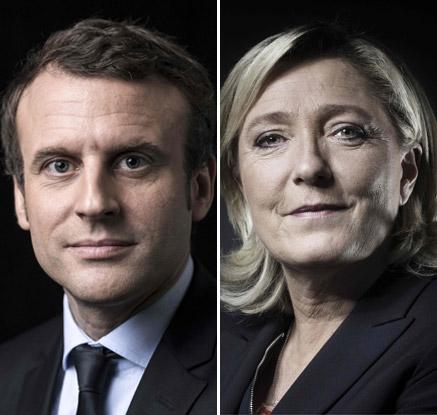 프랑스 대선 마크롱·르펜 2파전 압축··· 결선 레이스 '시동'