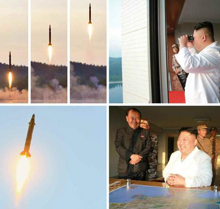 北, 신형 정밀 유도 탄도미사일 시험발사…7m 편차로 명중