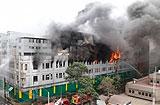 페루 리마 상가서 20시간 넘게 화재 계속…4명 실종