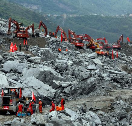 中쓰촨성 산사태로 '마을전체 사라져'…100여명 사망·실종