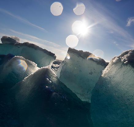 쇄빙선에서 본 경이로운 '북극의 해빙'