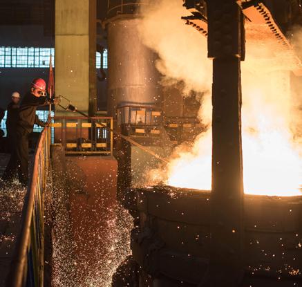 '78년간 끓고 있는 용광로'…북한 천리마제강연합기업소 생산현장