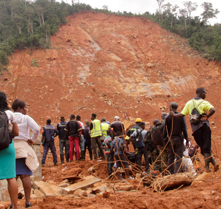 시에라리온 산사태 사망·실종 1천여명…추가 피해 우려