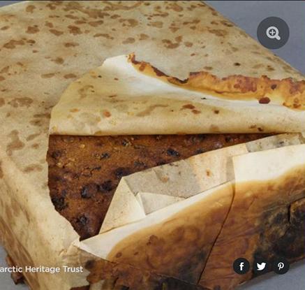 남극서 발견된 100년前 케이크…'당장 먹어도 될 보존상태'