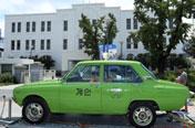 천만 관객 태우고 광주 온 '만섭'의 연두색 택시