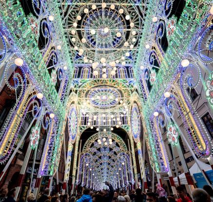'빛의 예술' 폴란드 벨라 스카이웨이 축제