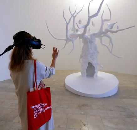 러시아 모스크바서 열린 국제 현대미술 비엔날레