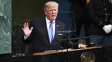 """트럼프 """"미국.동맹 방어해야한다면 北완전파괴외 다른선택 없다"""""""