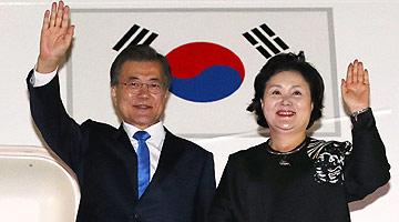 문대통령, 뉴욕 방문 일정 마치고 서울공항 통해 귀국