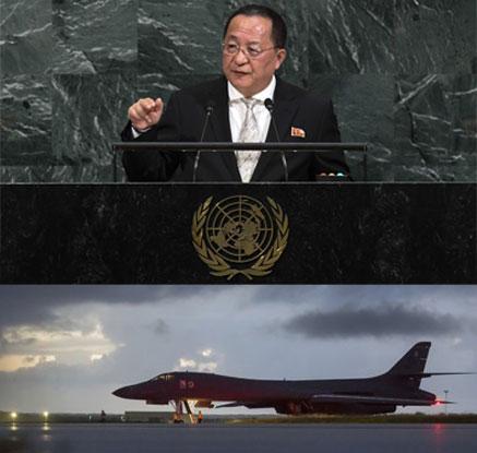 北리용호,작심하고 트럼프 공격 …美는 B-1B DMZ 최북단 출격