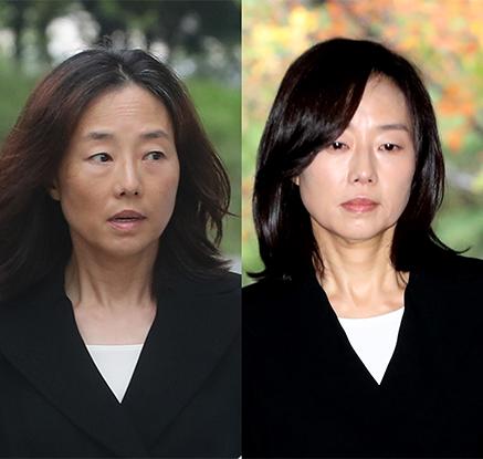 """3개월만에 모습 드러낸 조윤선 """"항소심 성실하게 임할 것"""""""