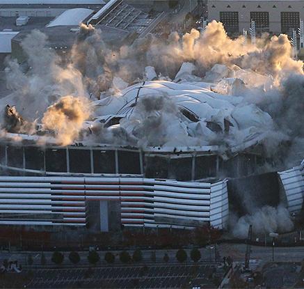 미국 애틀랜타 '조지아 돔' 폭파 해체