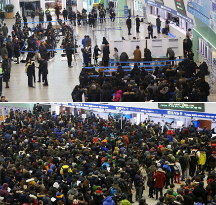설 연휴 열차표 예매 첫 날…갈수록 줄어드는 오프라인 구매