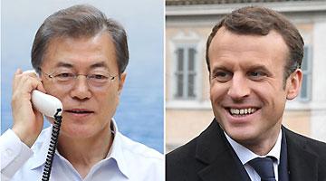 韓仏首脳が電話会談 北朝鮮核問題などで協力確認