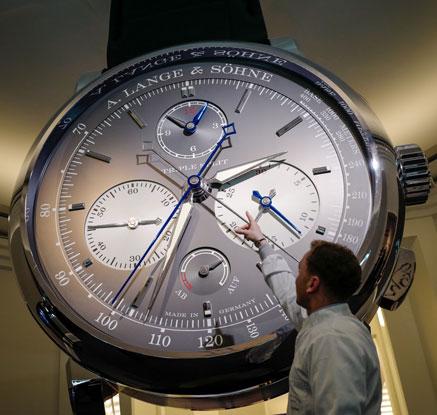 '최고의 시계들이 한 자리에'…스위스 국제 명품시계 박람회